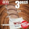 SET 3 Padelle antiaderenti effetto legno - Accademia Mugnano