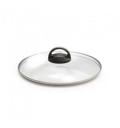 Coperchio in Vetro con bordo acciaio cm.30 - Natural Chic