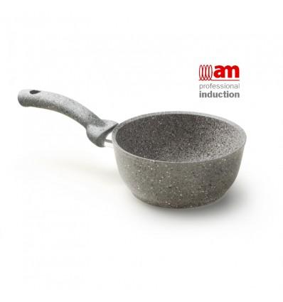 Casseruola rivestimento in pietra 1 manico cm.16 - Cuore di Pietra Induction