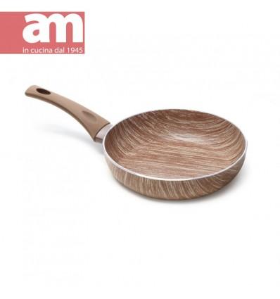 Padella antiaderente effetto legno cm.24 - ARBOREA