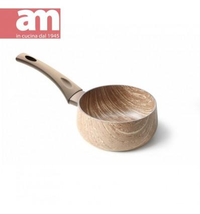 Casseruola antiaderente effetto legno 1 manico cm.16 - ARBOREA