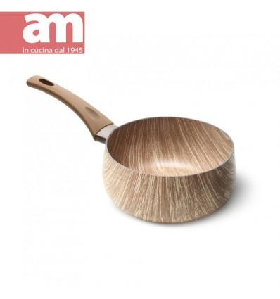 Casseruola antiaderente effetto legno 1 manico cm.20 - ARBOREA