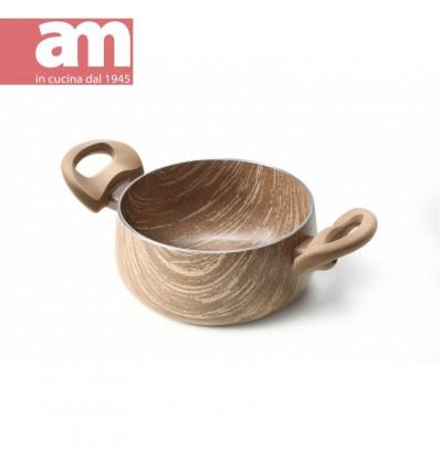 Casseruola antiaderente effetto legno 2 maniglie cm.16 - ARBOREA