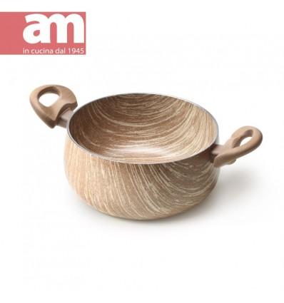 Casseruola antiaderente effetto legno 2 maniglie cm.24 - ARBOREA