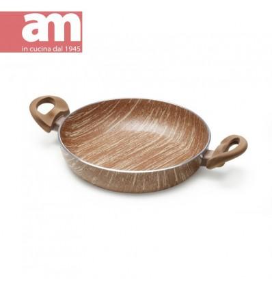 Tegame antiaderente effetto legno 2 maniglie cm.32 - ARBOREA