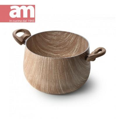 Pentola antiaderente effetto legno cm.22 - ARBOREA