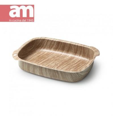 Teglia antiaderente effetto legno cm.25 - ARBOREA