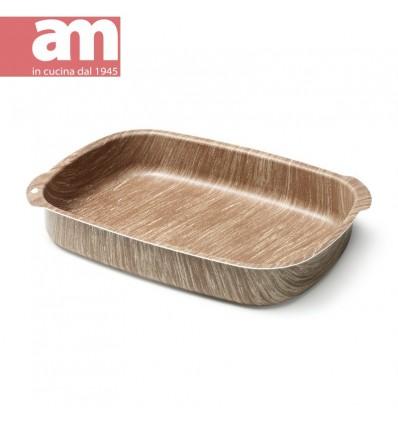 Teglia antiaderente effetto legno cm.35 - ARBOREA