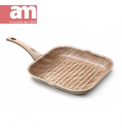 Bistecchiera antiaderente effetto legno cm.28x28 - ARBOREA
