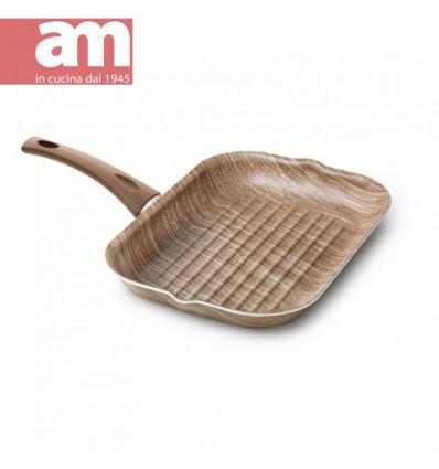 Bistecchiera antiaderente effetto legno cm.24x34 - ARBOREA