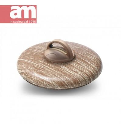 Coperchio in alluminio effetto legno cm.24 - ARBOREA