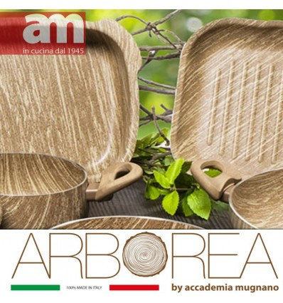 Batteria Antiaderente effetto legno 18 PEZZI - ARBOREA