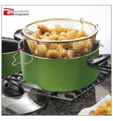 Friggitrice Antiaderente con cestello cm.24 - Amici in Cucina