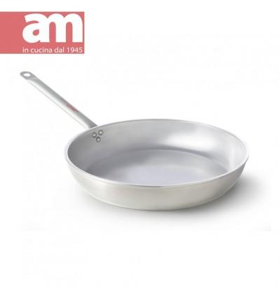 Padella professionale alluminio nudo cm.22 - Professione Cuoco serie 500