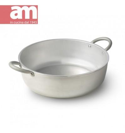 Tegame professionale alluminio nudo cm.40 - Professione Cuoco serie 500