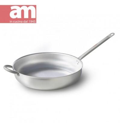 Padella professionale alluminio nudo con contromaniglia cm.40 - Professione Cuoco serie 200