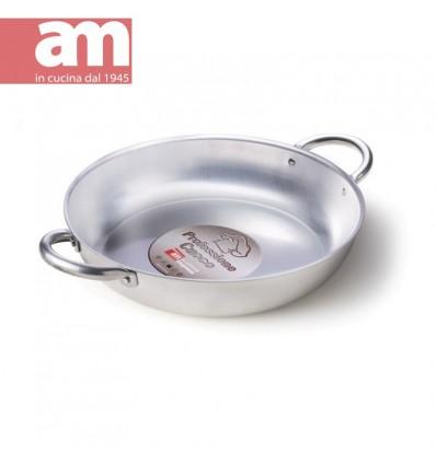 Tegame professionale alluminio nudo 2 maniglie cm.32 - Professione Cuoco serie 200