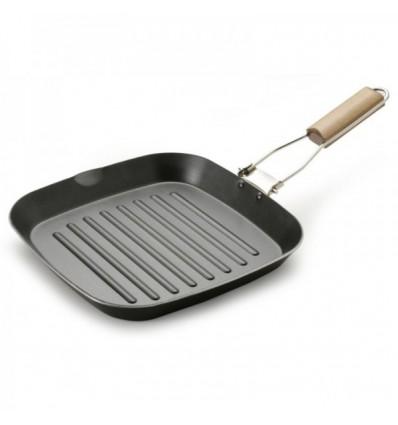Bistecchiera manico in legno cm.30x30 - Fuoco & Idee